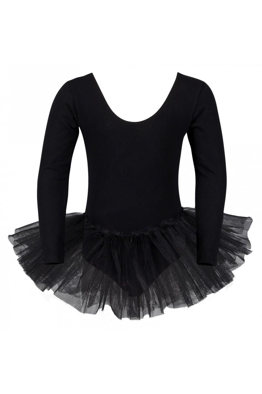 ballett tutu alea mit langem arm schwarz. Black Bedroom Furniture Sets. Home Design Ideas